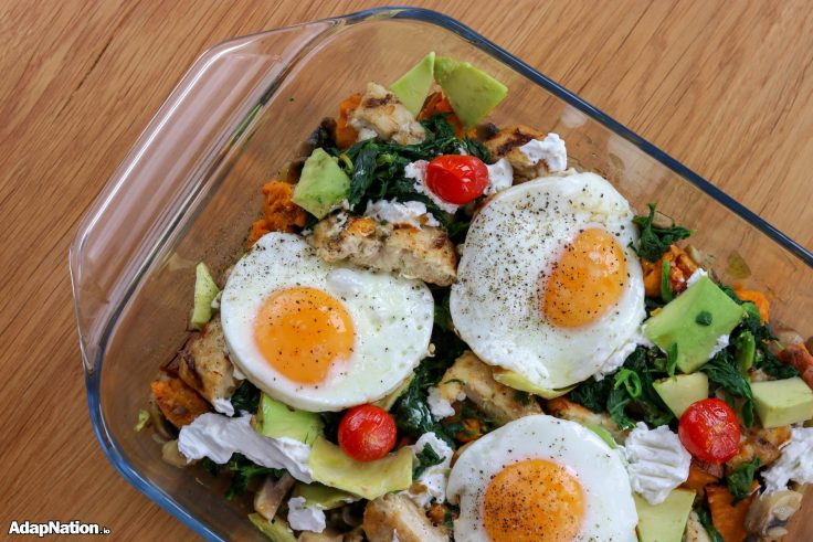Michelle's Sweet Potato Hash (for two)