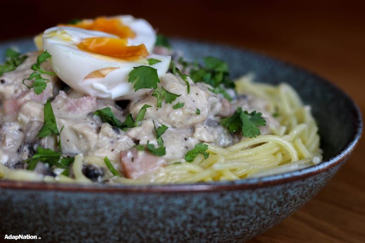 Gluten Free Home Made Carbonara