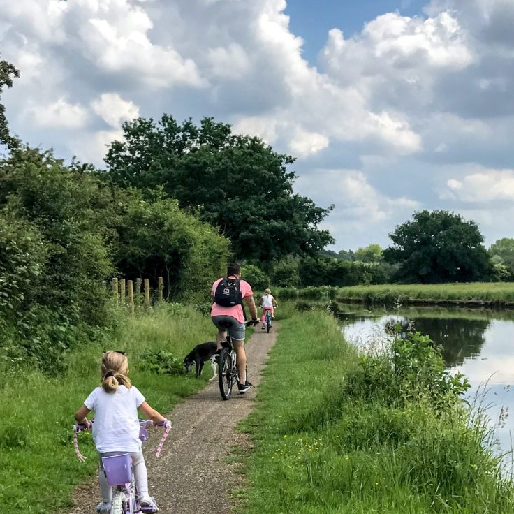 PICTURESQUE: Tranquility and calm on this easy-going family bike ride