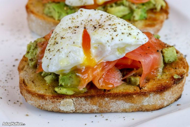 Avo Sourdough Toast with Poached Eggs