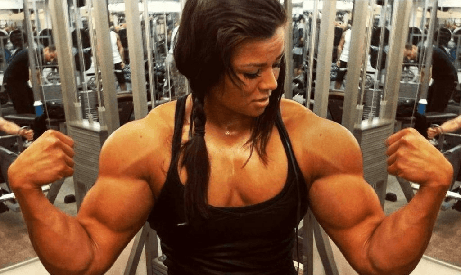 Big muscle bound women