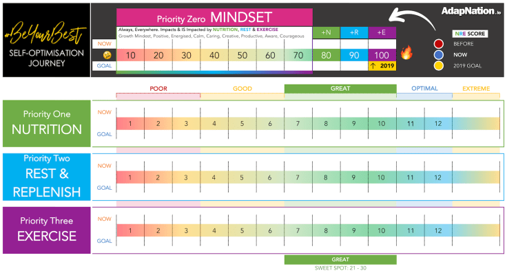 AdapNation's #BeYourBest Self-Optimisation Journey - scorecard