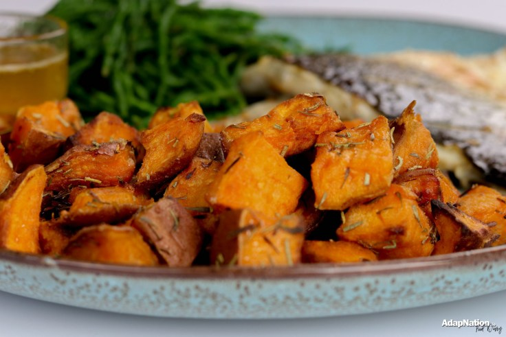 Pan Fried Sea Bass, Samphire & Sweet Potato Mini Roasties p2