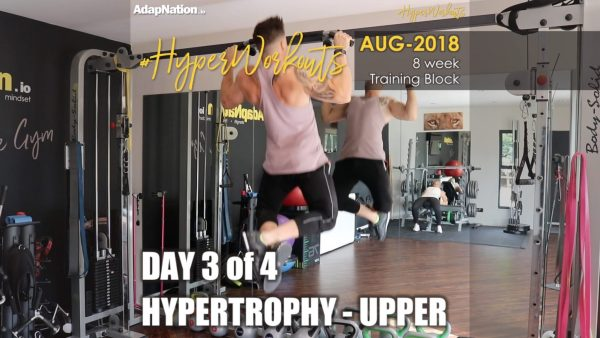 AUG-18 #HyperWorkouts - Day 3/4 - HYPERTROPHY Upper