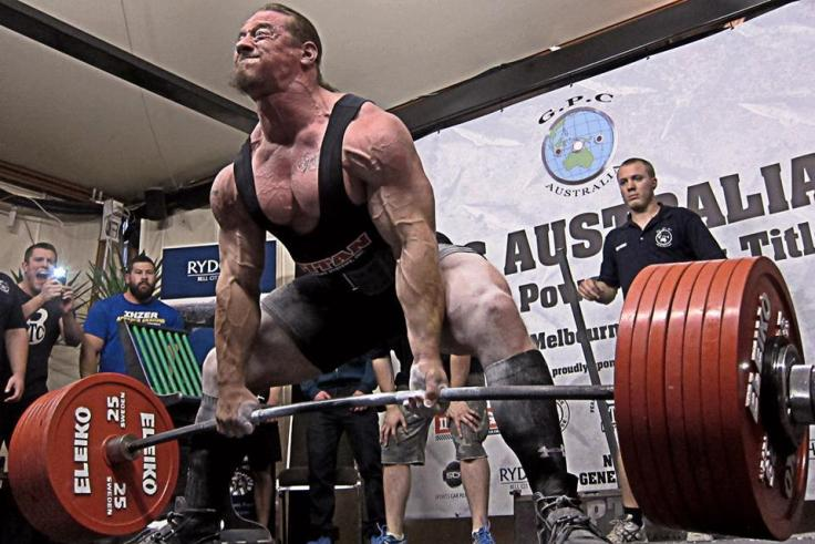 Dan green powerlifter with a heavy one rep max