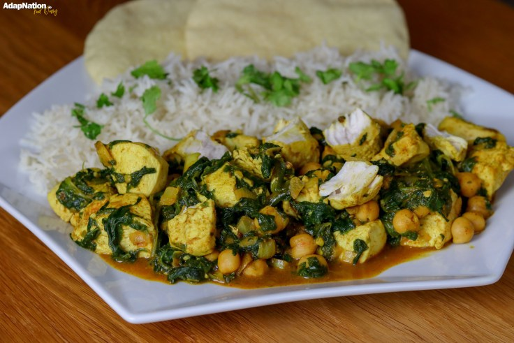 Spicy Coconut, Spinach & Chickpea Chicken Curry p5