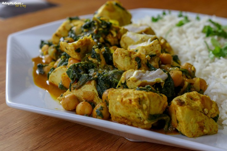 Spicy Coconut, Spinach & Chickpea Chicken Curry p4
