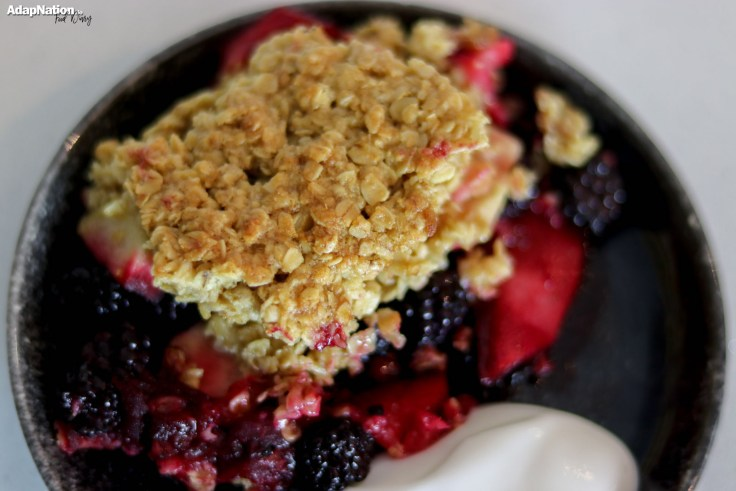 Home-made BlackBerry & Apple Crumble [Gluten & Lactose Free] p2