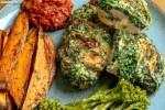 Hasselback Chicken, Sweet Potato Wedges & Home Made Salsa