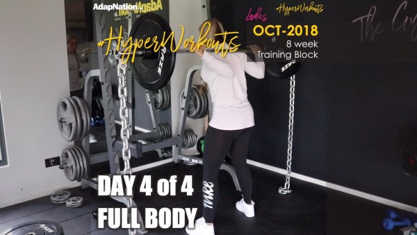 OCT-18 Ladies #HyperWorkouts - Day 4