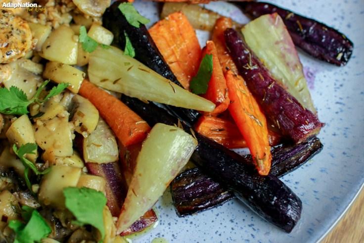 Creamy Red Pesto Chicken, Rainbow Carrots & Jacket Sweet Potato p3