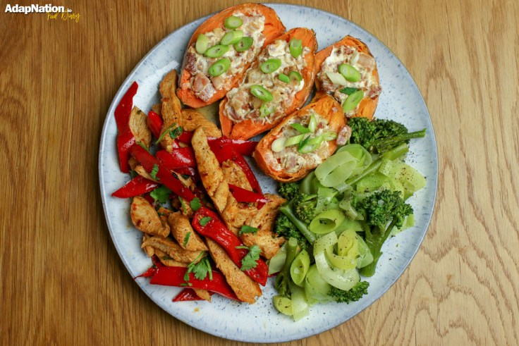 Tex Mex Chicken with Loaded Sweet Potato Skins p2