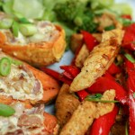 Tex Mex Chicken with Loaded Sweet Potato Skins & Gut-Friendly Veg