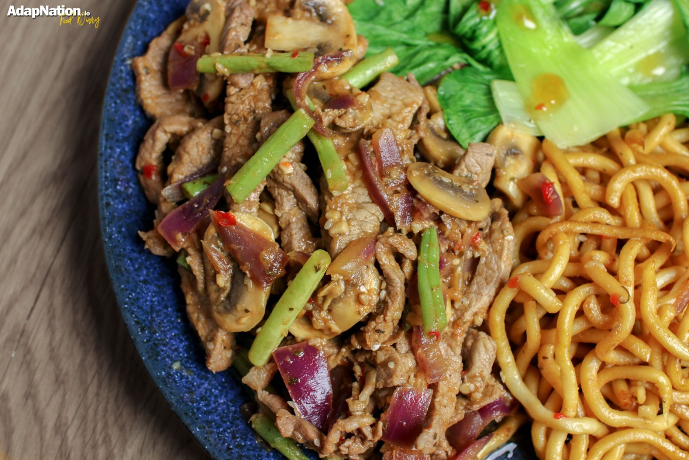 Sweet Chilli Beef with Udon Noodles & Pak Choi