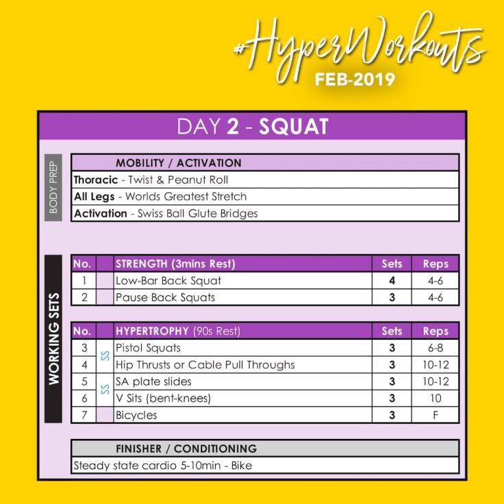 FEB-19 #HyperWorkouts Day 2
