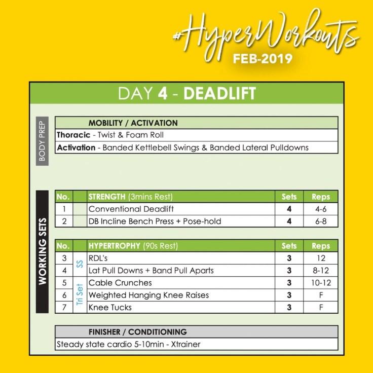 FEB-19 #HyperWorkouts Day 4