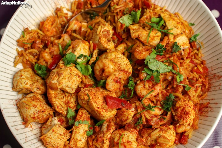 Chicken & King Prawn Paella - click to check out all Food Diary meal ideas