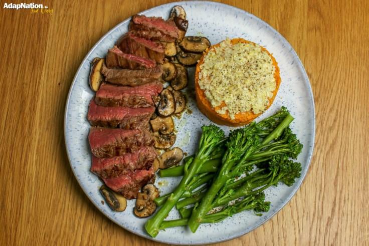Fillet Steak, Artichoke & Sweet Potato Mash and Chestnut Mushrooms p4
