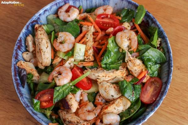 Chicken and Prawn Salad