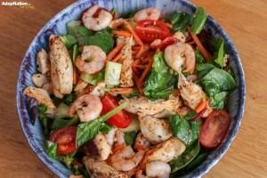 Chilli Chicken & Prawn Salad
