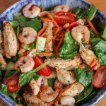 Chilli Chicken & Prawn Salad