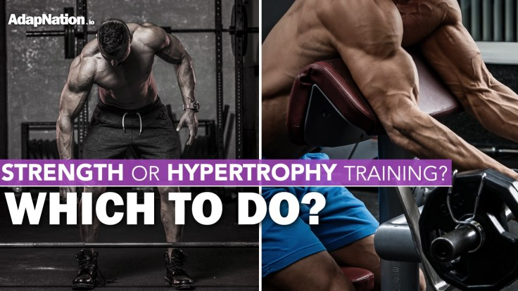 Differences between strength and hypertrophy training