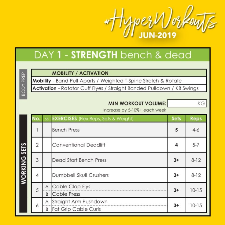 JUN-19 #HyperWorkouts - Day 1