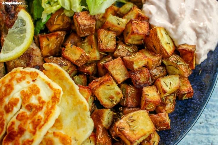Lamb Adana Kebabs, Crispy Roasties, Halloumi & Salad p3