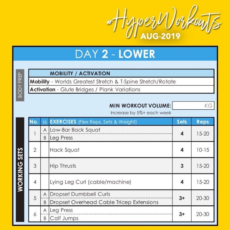 AUG-19 #HyperWorkouts DAY 2