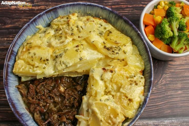 Ox Cheek & Potato Dauphinois Pie