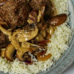 Creamy Meatballs & Mushrooms on Rice