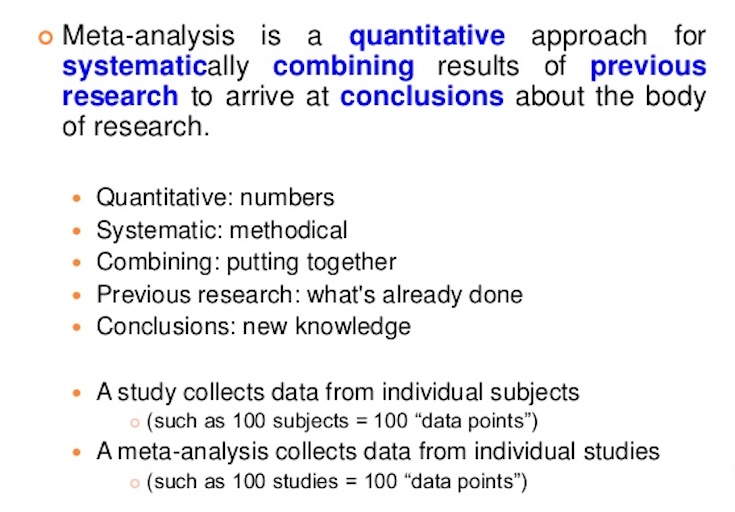 Meta Analysis Description