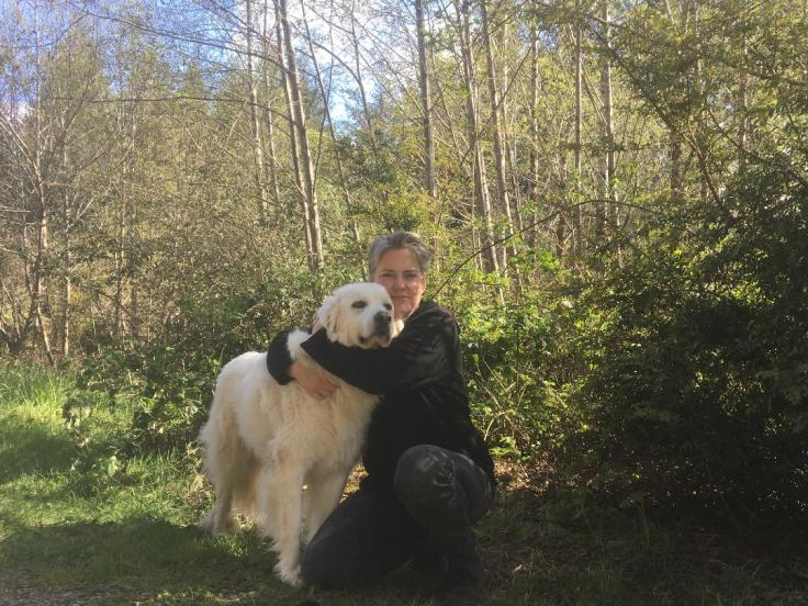 Lierre Keith with dog
