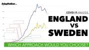 COVID-19 Sweden vs England UK