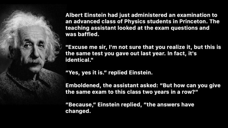 Einstein Different Answers