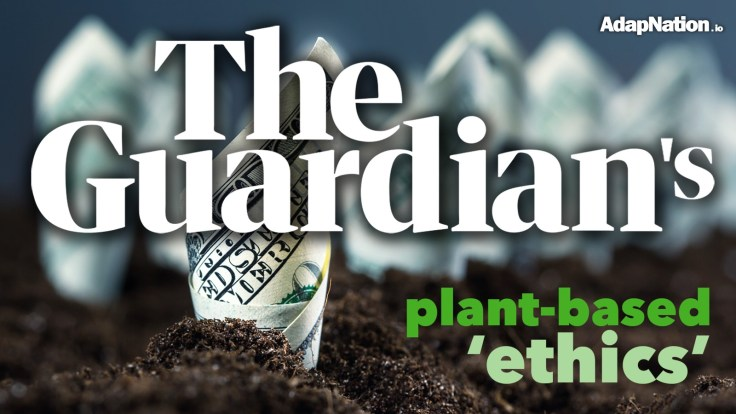 Guardian receiving funding for plant-based editorial