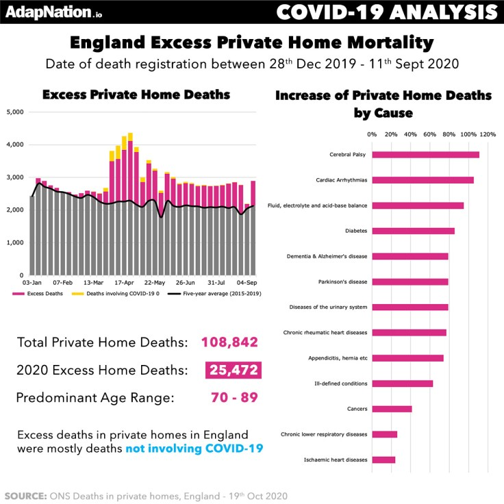 Excess Home Deaths in England 2020