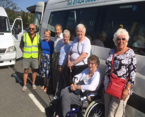 Tynedale Stroke Club by the Adapt (NE) bus