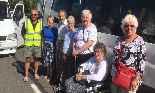 Tynedale Stroke Club by the Adapt (NE) bus
