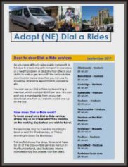front cover of dial-a-ride leaflet
