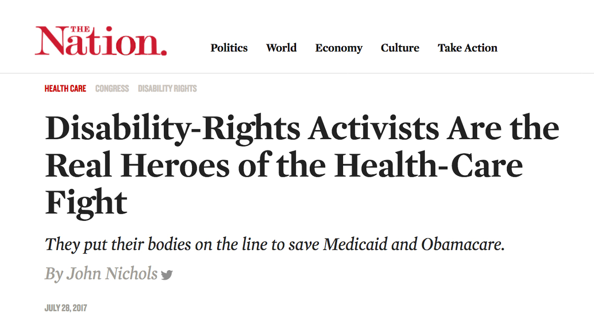 Disability-Rights Activists are the Real Heroes of the Health Care Fight