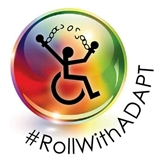 ADAPT logo with the hashtag Roll With ADAPT