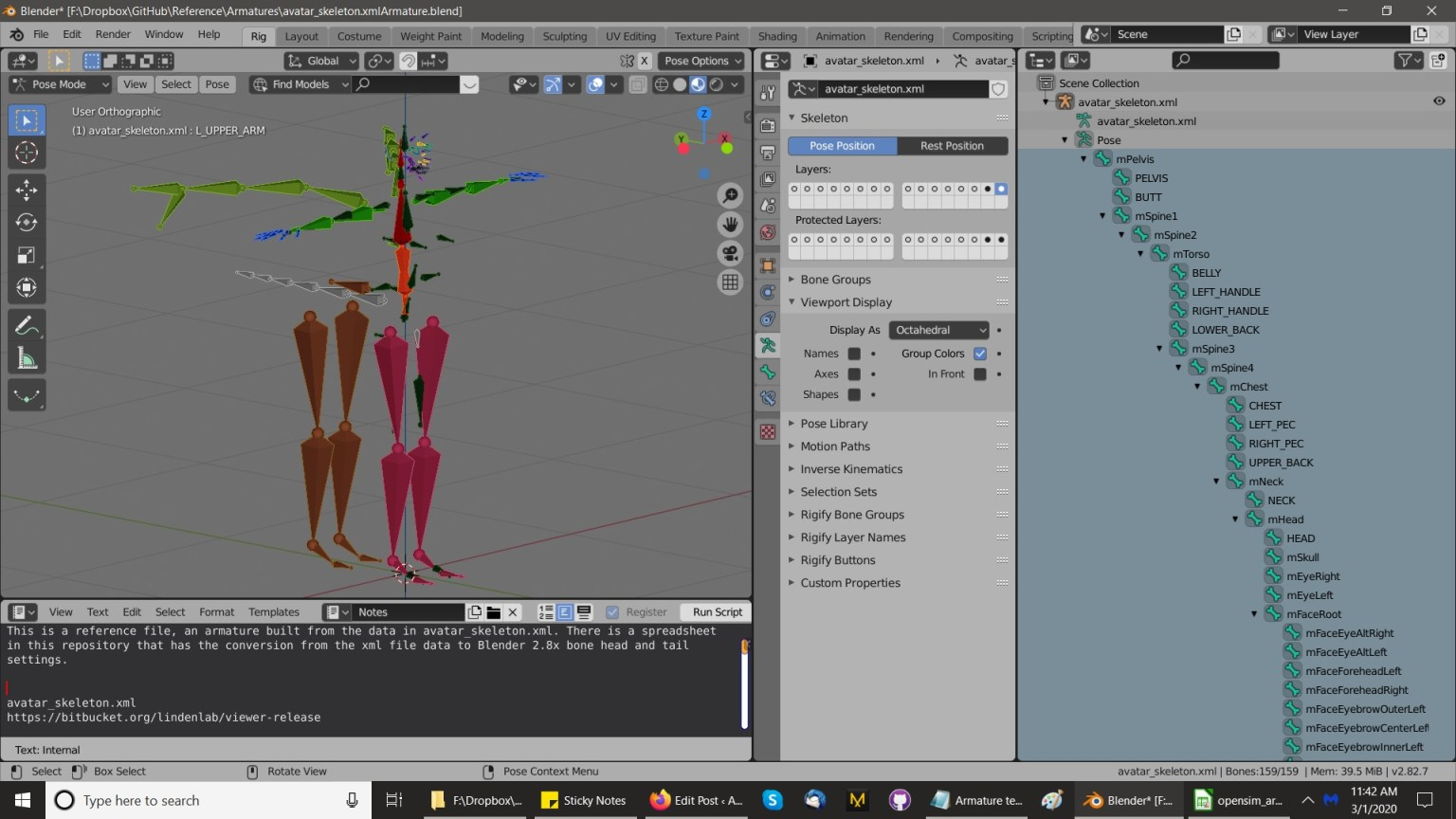 How to build the Bento armature in Blender 2.8x, part 1