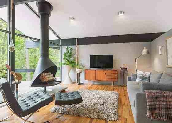decoración mid century modern case study houses mies van der rohe