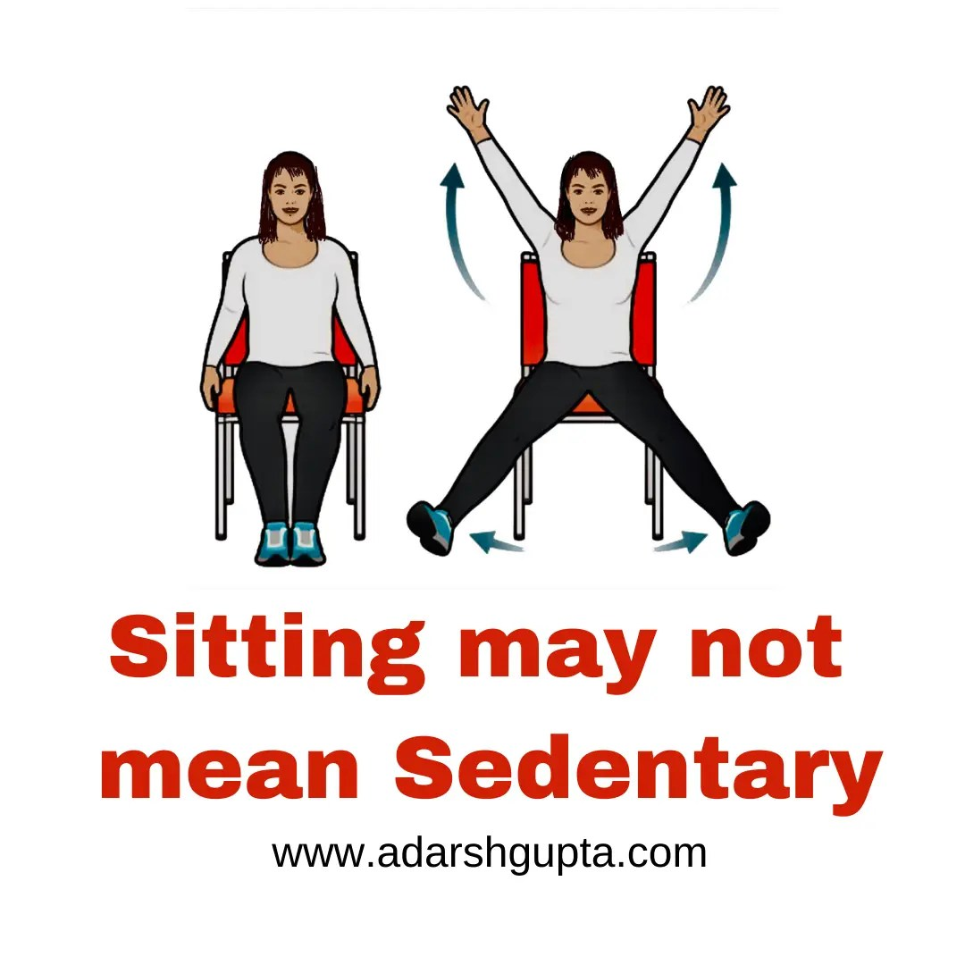 Sitting may not mean sedentary