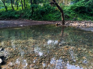 Calm at first, this stream proved to be a bane for vehicles after it rained a bit