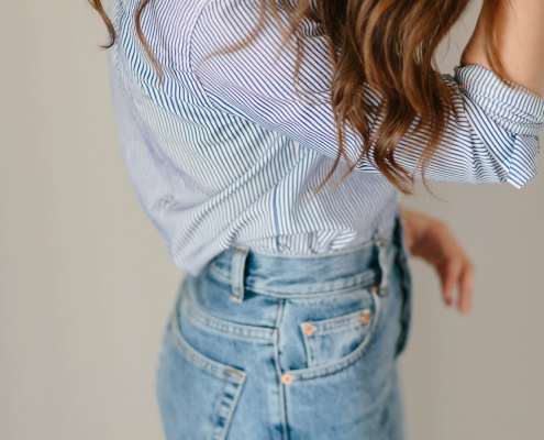 Stipes and Mom Jeans