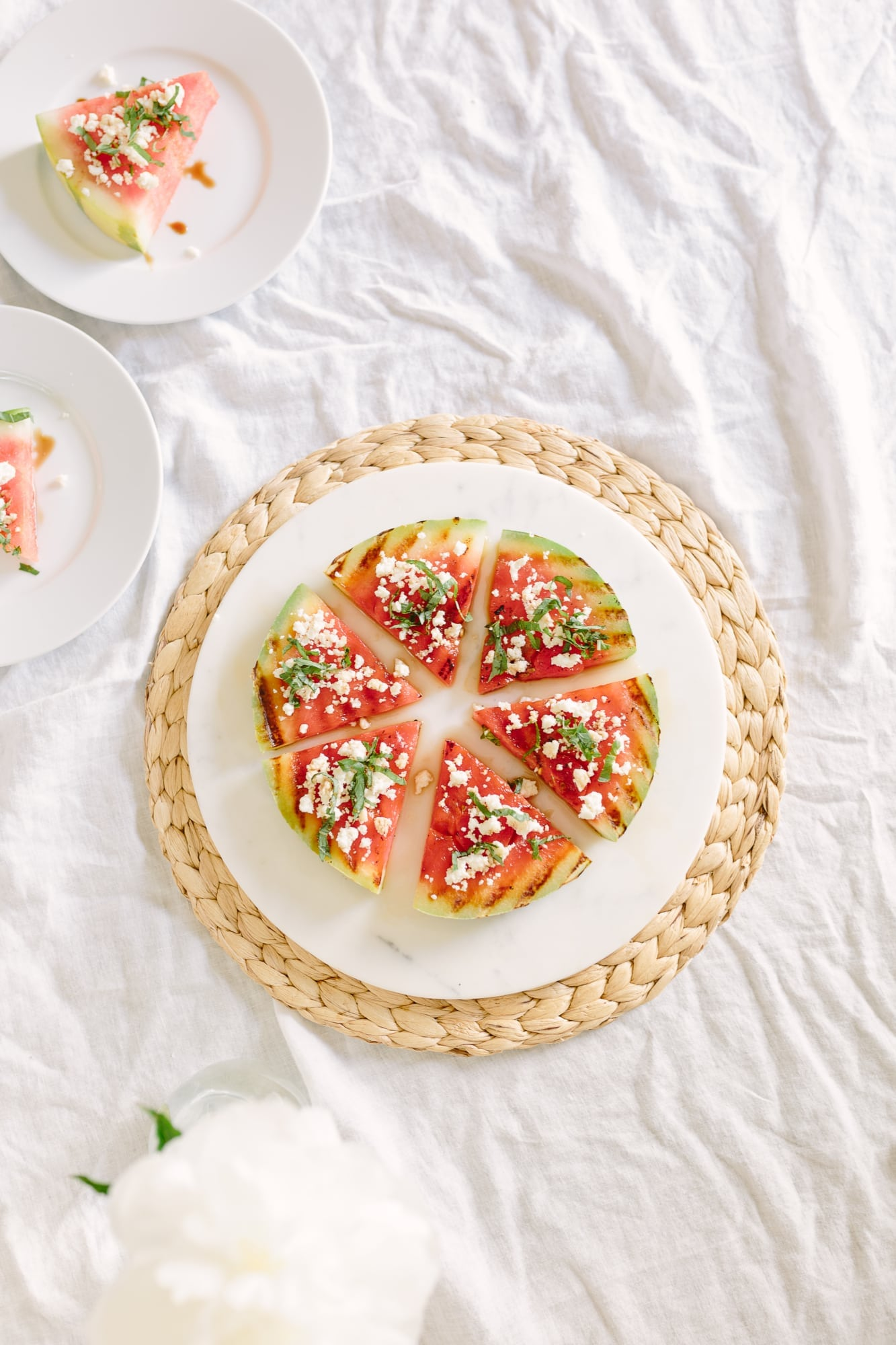 Grilled Watermelon with Queso Fresco