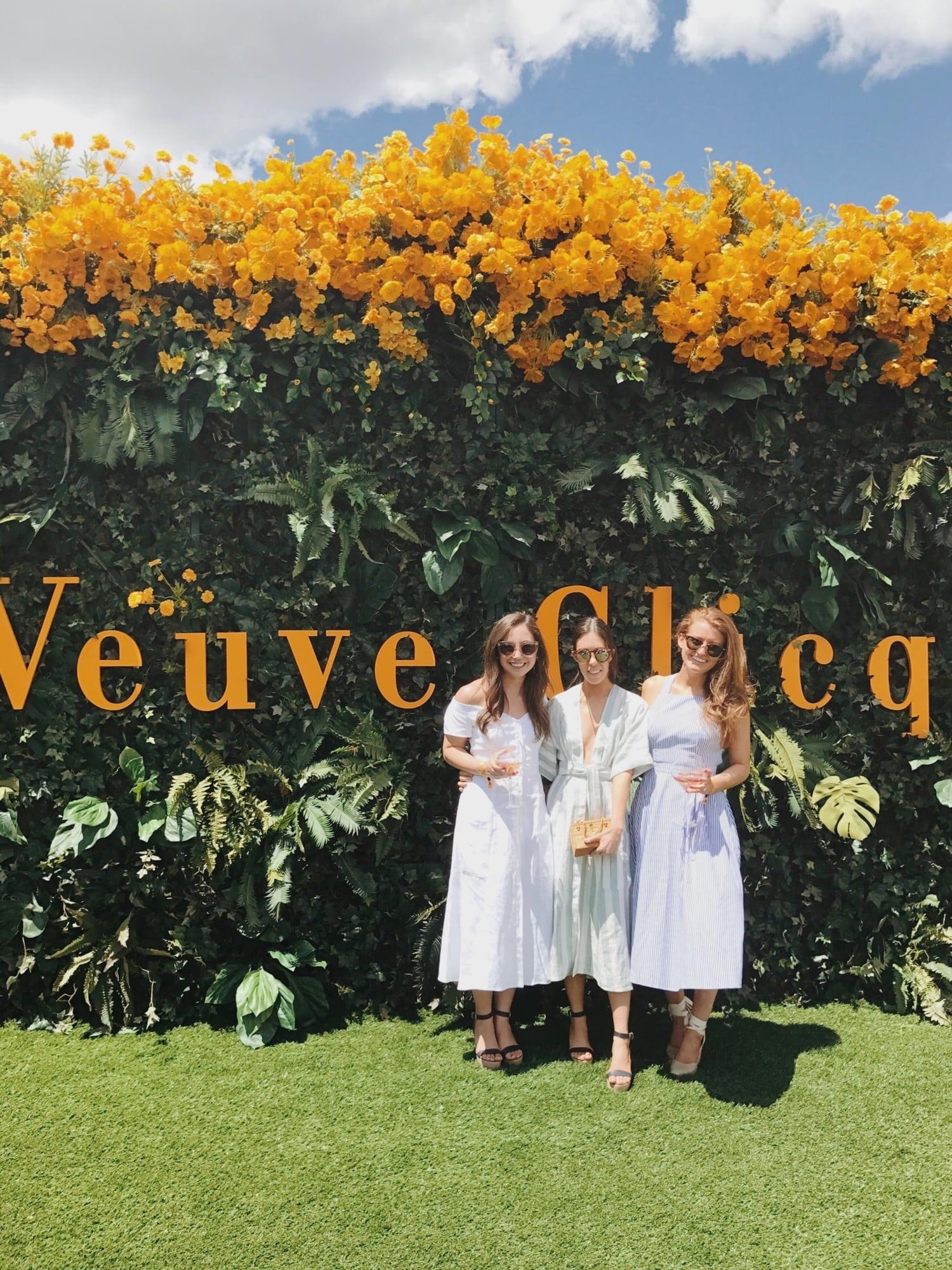 Ali Schilling, Amy Stone and Mackenzie Horan at the Veuve Clicquot Polo Classic
