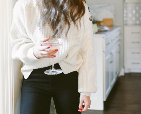 Madewell Sweater and Black Jeans
